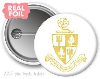 Delta Delta Delta Foil Crest - Shield Button