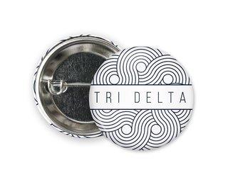 Delta Delta Delta Geo Scroll Button Pin
