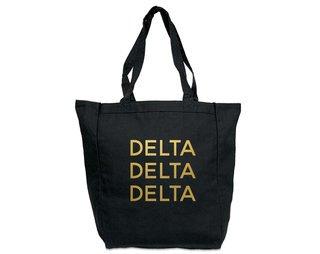 Delta Delta Delta Gold Foil Tote bag