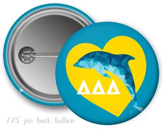 Delta Delta Delta Heart Mascot Button