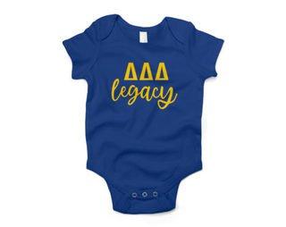 Delta Delta Delta Legacy Baby Outfit Onesie
