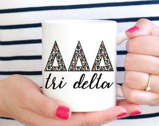Delta Delta Delta Leopard Mug