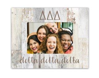 Delta Delta Delta Letters Barnwood Picture Frame