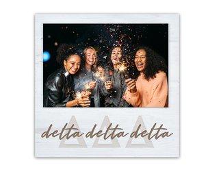 Delta Delta Delta Letters Script Block Picture Frame