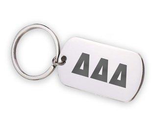 Delta Delta Delta Letters Stainless Keychain