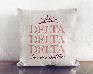 Delta Delta Delta Linen Sun Pillow