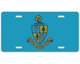 Delta Delta Delta Crest - Shield License Plate