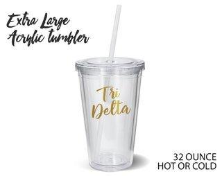 Delta Delta Delta Metallic Gold XL Tumbler