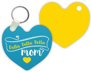 Delta Delta Delta Mom Keychain