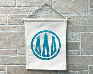 Delta Delta Delta Monogram Banner