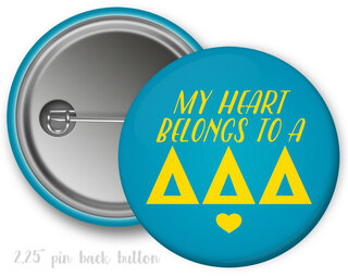 Delta Delta Delta My Heart Belongs to a Button
