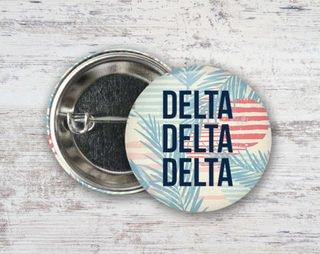 Delta Delta Delta Paradise Found Button
