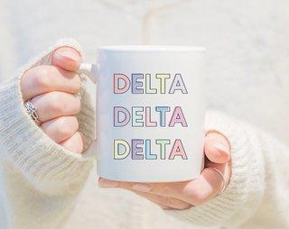 Delta Delta Delta Pastel Mug