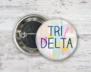 Delta Delta Delta Pastel Strokes Button