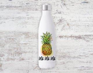 Delta Delta Delta Pineapple Steel Water Bottle