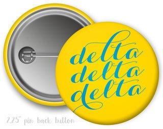 Delta Delta Delta Script Button