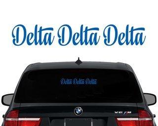 Delta Delta Delta Script Decal