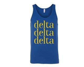 Delta Delta Delta Simple Tank