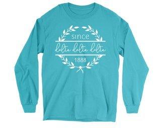 Delta Delta Delta Since 1888 Long Sleeve