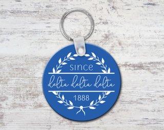 Delta Delta Delta Since Established Keyring