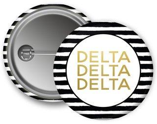 Delta Delta Delta Striped Button