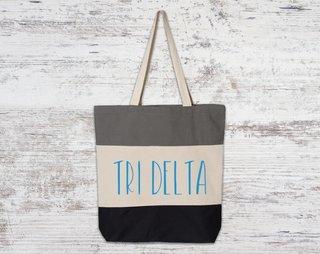 Delta Delta Delta Tri Color Tote Bag