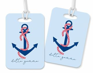 Delta Gamma Anchor Luggage Tag