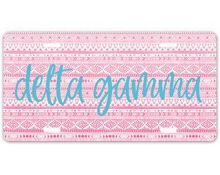 Delta Gamma Aztec License Plate