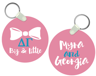Delta Gamma Big and Little Keychain
