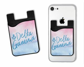 Delta Gamma Watercolor Caddy Phone Wallet