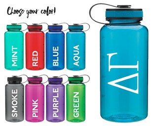 Delta Gamma Classic Letters Water Bottle