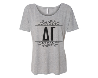 Delta Gamma Floral Letters Flowy Tee
