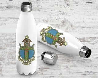 Delta Gamma Crest - Shield Stainless Steel Water Bottle