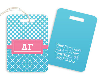Delta Gamma Geometric Luggage Tag