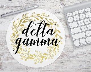 Delta Gamma Gold Wreath Mousepad