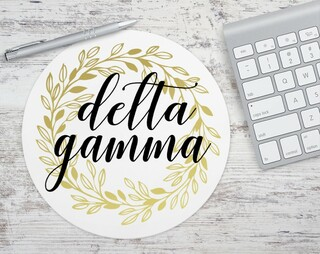 Delta Gamma Gold Wreath Mousepad