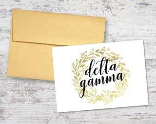 Delta Gamma Gold Wreath Notecards(6)