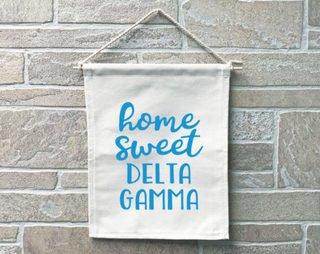 Delta Gamma Home Sweet Home Banner