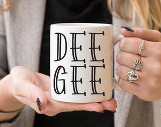 Delta Gamma Inline Coffee Mug