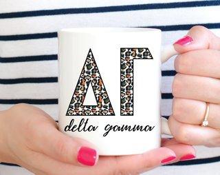 Delta Gamma Leopard Mug