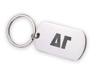 Delta Gamma Letters Stainless Keychain
