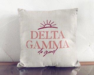 Delta Gamma Linen Sun Pillow