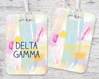 Delta Gamma Watercolor Luggage Tag