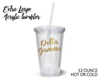 Delta Gamma Metallic Gold XL Tumbler