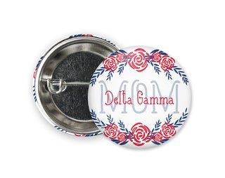Delta Gamma Mom Floral Button