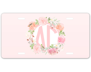 Delta Gamma Monogram License Plate