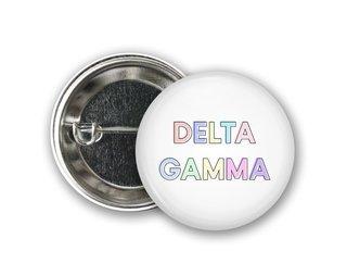 Delta Gamma Pastel Letter Button