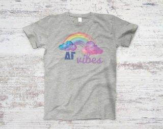Delta Gamma Rainbow Vibes Tee