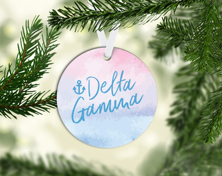 Delta Gamma Round Acrylic Watercolor Ornament