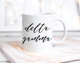 Delta Gamma Script Mug
